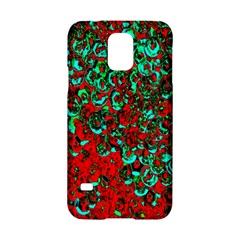 Red Turquoise Abstract Background Samsung Galaxy S5 Hardshell Case  by Nexatart