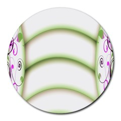 Abstract Background Round Mousepads by Nexatart