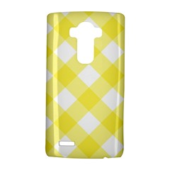 Plaid Chevron Yellow White Wave Lg G4 Hardshell Case by Mariart