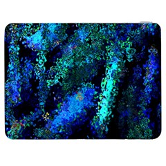 Underwater Abstract Seamless Pattern Of Blues And Elongated Shapes Samsung Galaxy Tab 7  P1000 Flip Case by Nexatart