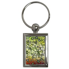 Chaos Background Other Abstract And Chaotic Patterns Key Chains (rectangle)  by Nexatart