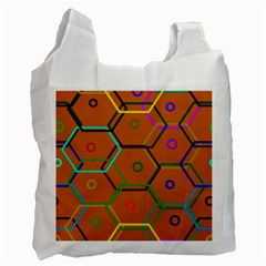 Color Bee Hive Color Bee Hive Pattern Recycle Bag (one Side) by Nexatart