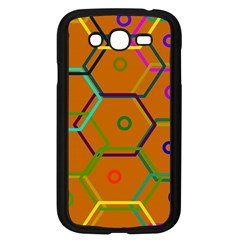 Color Bee Hive Color Bee Hive Pattern Samsung Galaxy Grand Duos I9082 Case (black) by Nexatart