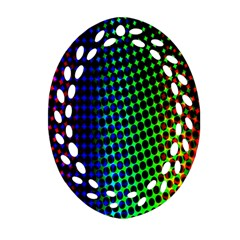 Digitally Created Halftone Dots Abstract Background Design Ornament (oval Filigree) by Nexatart