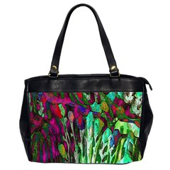 Bright Tropical Background Abstract Background That Has The Shape And Colors Of The Tropics Office Handbags (2 Sides)  by Nexatart