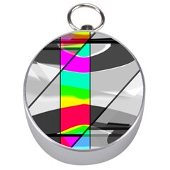 Colors Fadeout Paintwork Abstract Silver Compasses by Nexatart