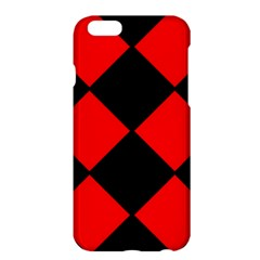 Red Black Square Pattern Apple Iphone 6 Plus/6s Plus Hardshell Case by Nexatart