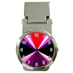 Red And Purple Triangles Abstract Pattern Background Money Clip Watches