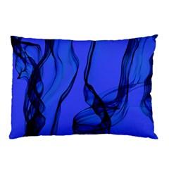 Blue Velvet Ribbon Background Pillow Case (Two Sides)