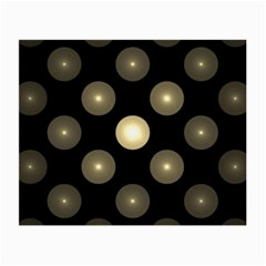 Gray Balls On Black Background Small Glasses Cloth (2 Side) by Nexatart