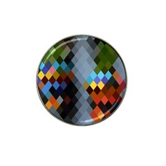 Diamond Abstract Background Background Of Diamonds In Colors Of Orange Yellow Green Blue And More Hat Clip Ball Marker (10 pack) by Nexatart