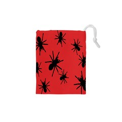 Illustration With Spiders Drawstring Pouches (XS)  by Nexatart