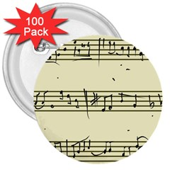 Music Notes On A Color Background 3  Buttons (100 Pack)  by Nexatart