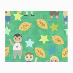 Football Kids Children Pattern Small Glasses Cloth (2 Side) by Nexatart