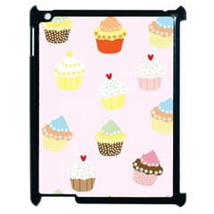 Seamless Cupcakes Wallpaper Pattern Background Apple iPad 2 Case (Black) by Nexatart