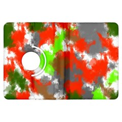Abstract Watercolor Background Wallpaper Of Splashes  Red Hues Kindle Fire HDX Flip 360 Case by Nexatart