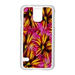 Floral Pattern Background Seamless Samsung Galaxy S5 Case (white) by Nexatart