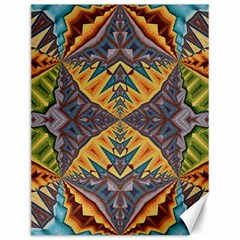 Kaleidoscopic Pattern Colorful Kaleidoscopic Pattern With Fabric Texture Canvas 12  X 16   by Nexatart