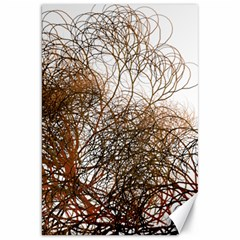 Digitally Painted Colourful Winter Branches Illustration Canvas 20  X 30   by Nexatart