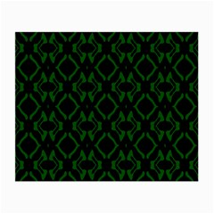 Green Black Pattern Abstract Small Glasses Cloth (2 Side) by Nexatart