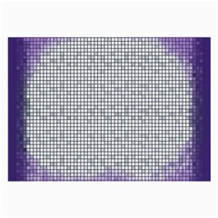 Purple Square Frame With Mosaic Pattern Large Glasses Cloth by Nexatart