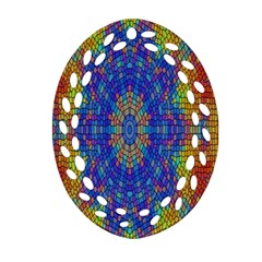 A Creative Colorful Backgroun Ornament (oval Filigree) by Nexatart