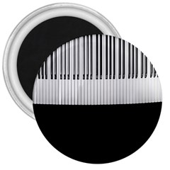 Piano Keys On The Black Background 3  Magnets