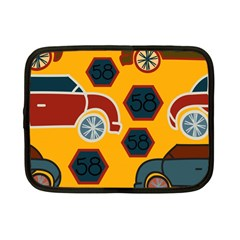 Husbands Cars Autos Pattern On A Yellow Background Netbook Case (Small)  by Nexatart