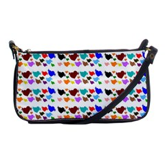 A Creative Colorful Background With Hearts Shoulder Clutch Bags by Nexatart