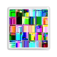 Glitch Art Abstract Memory Card Reader (square)  by Nexatart