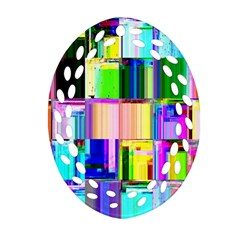 Glitch Art Abstract Ornament (oval Filigree) by Nexatart