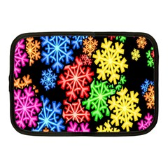 Colourful Snowflake Wallpaper Pattern Netbook Case (medium)  by Nexatart