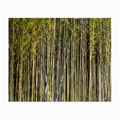 Bamboo Trees Background Small Glasses Cloth (2 Side) by Nexatart