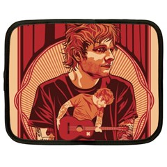 Ed Sheeran Illustrated Tour Poster Netbook Case (XXL)  by Onesevenart