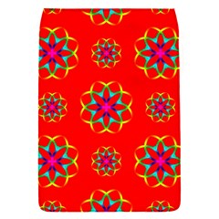 Rainbow Colors Geometric Circles Seamless Pattern On Red Background Flap Covers (s)  by Nexatart