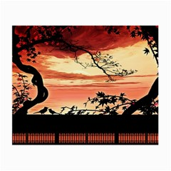 Autumn Song Autumn Spreading Its Wings All Around Small Glasses Cloth (2 Side) by Nexatart