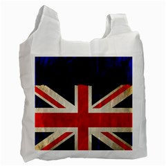 Flag Of Britain Grunge Union Jack Flag Background Recycle Bag (one Side) by Nexatart