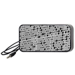 Metal Background With Round Holes Portable Speaker (Black)
