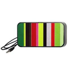 Stripe Background Portable Speaker (black)
