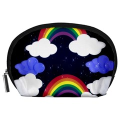 Rainbow Animation Accessory Pouches (large)  by Nexatart