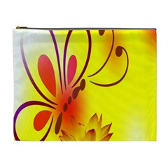 Butterfly Background Wallpaper Texture Cosmetic Bag (xl) by Nexatart