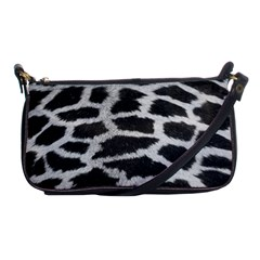 Black And White Giraffe Skin Pattern Shoulder Clutch Bags by Nexatart