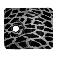 Black And White Giraffe Skin Pattern Galaxy S3 (flip/folio) by Nexatart