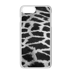 Black And White Giraffe Skin Pattern Apple Iphone 7 Plus White Seamless Case