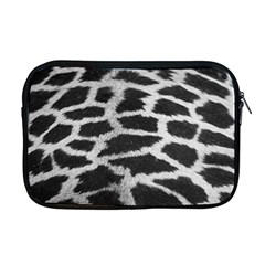 Black And White Giraffe Skin Pattern Apple Macbook Pro 17  Zipper Case