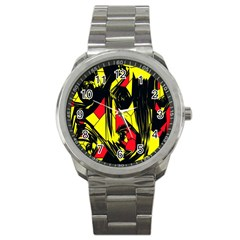 Easy Colors Abstract Pattern Sport Metal Watch