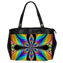 Fractal Butterfly Office Handbags (2 Sides)  by Nexatart