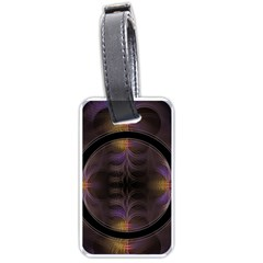 Wallpaper With Fractal Black Ring Luggage Tags (two Sides) by Nexatart