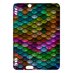 Fish Scales Pattern Background In Rainbow Colors Wallpaper Kindle Fire HDX Hardshell Case by Nexatart