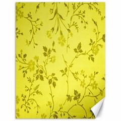 Flowery Yellow Fabric Canvas 18  X 24